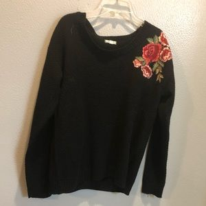 ⚡️2 for $25⚡️ Embroidered Black Sweater